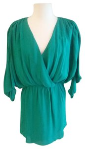 Parker short dress Green Silk on Tradesy