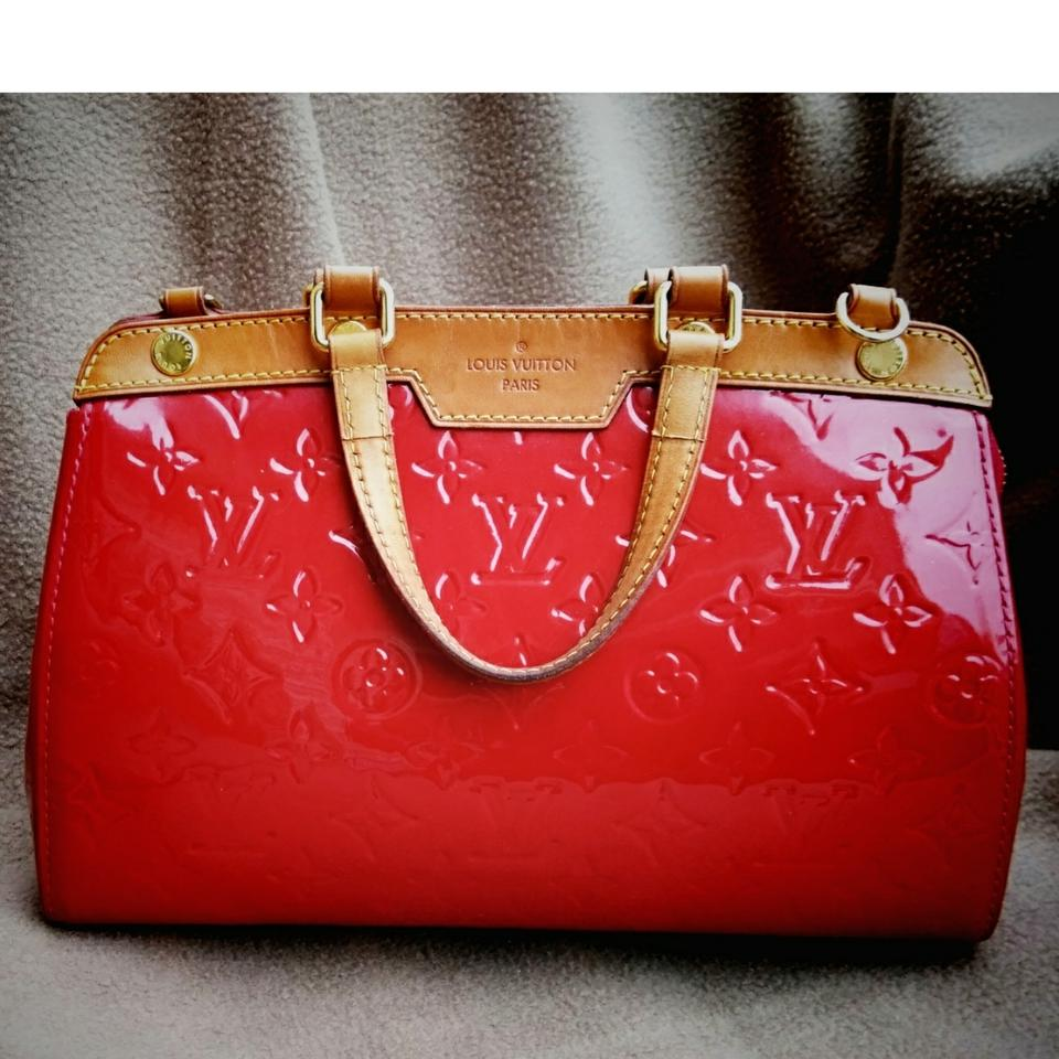 f8f045304296 Louis Vuitton Patent Leather Leather Satchel in burgundy Image 0 ...