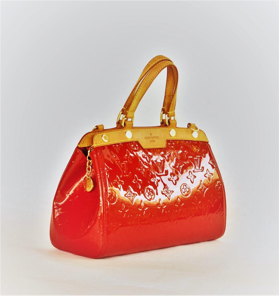 bdebf14e2fae Louis Vuitton Patent Leather Leather Satchel in burgundy Image 8. 123456789