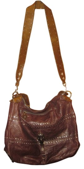 Preload https://item4.tradesy.com/images/george-gina-and-lucy-studded-brown-faux-leather-shoulder-bag-1646278-0-0.jpg?width=440&height=440