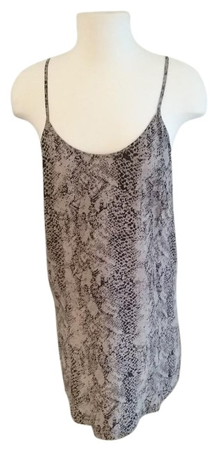 Item - Leopard Print Mid-length Short Casual Dress Size 4 (S)