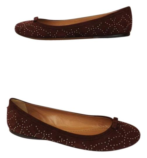 Preload https://img-static.tradesy.com/item/16462954/alaia-wine-suede-silver-studded-bow-ballet-flats-size-eu-405-approx-us-105-regular-m-b-0-1-540-540.jpg
