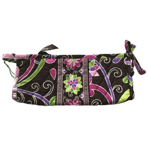 Vera Bradley Small Bow Cosmetic Bag Purple Punch Floral Travel Pouch Case Retired