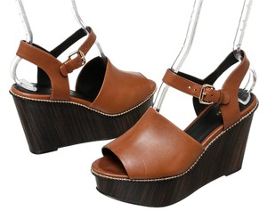 Coach Tan Wedges