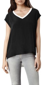 AllSaints T Shirt Black, chalk