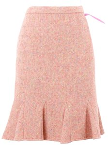 INC International Concepts Petite 4p Coral Beige Blue Multi Boucle Gored Straight B135 Skirt