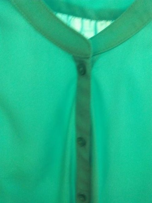 American Eagle Outfitters Ae Blouse Button Down Shirt Aqua