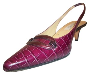 Isaac Mizrahi Red Plum Pumps