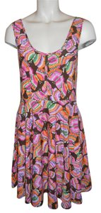 Free People short dress multi color print Knit Butterfly on Tradesy