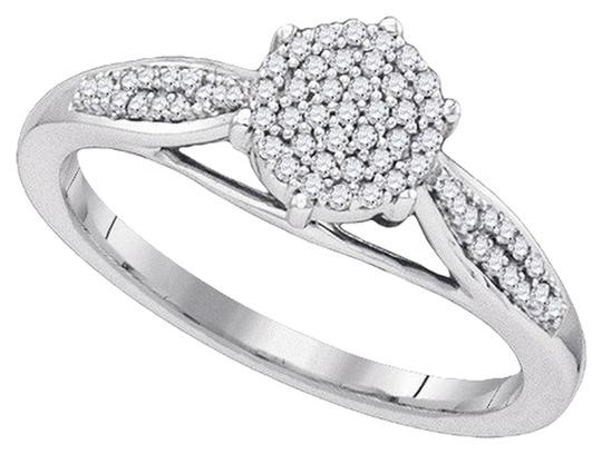 Other BrianG 10k WHITE GOLD 0.18 CTTW DIAMOND MICRO PAVE LUXURY FASHION RING