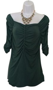Max Studio Vintage Casual Evening Top Winter/ holiday green