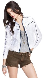 Free People Geo Eyelet Track Super Cute Jacket