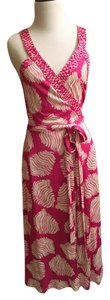 Diane von Furstenberg short dress Rasberry Cream Dvf Silk Wrap on Tradesy