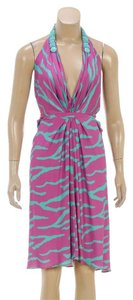 Blumarine short dress Magenta/Turquoise on Tradesy