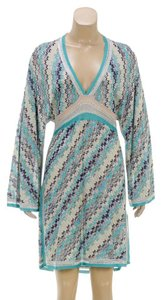 Missoni short dress Teal/Multicolor on Tradesy