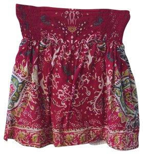 Lucky Brand Skirt Red Print