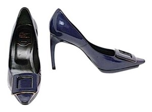 Roger Vivier Deep Patent Leather Platform Deep Purple Pumps