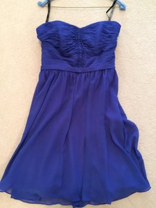 Alfred Angelo Cobalt Chiffon 7143 Modern Bridesmaid/Mob Dress Size 12 (L)