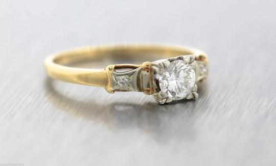 Other Antique Retro 1944 14K Yellow White Gold 0.35ctw Diamond Engagement Ring