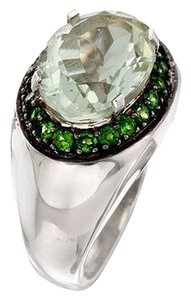 Ross-Simmons 5.30 Carat Green Amethyst and .90 ct. t.w. Green Chrome Diopside Ring in Sterling Silver