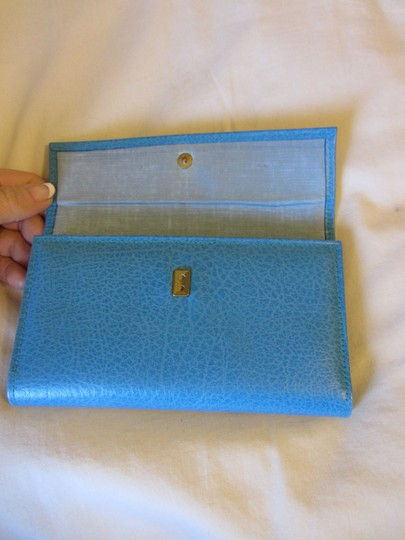Other Turquoise Marine Blue LEATHER Wallet BRAND NEW Image 1