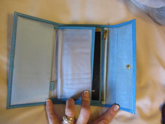 Other Turquoise Marine Blue LEATHER Wallet BRAND NEW Image 3