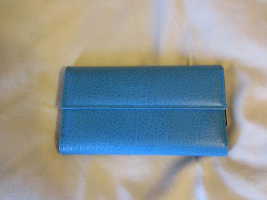 Other Turquoise Marine Blue LEATHER Wallet BRAND NEW Image 4