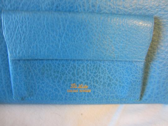 Other Turquoise Marine Blue LEATHER Wallet BRAND NEW Image 5