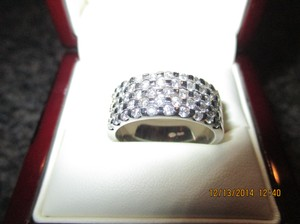 Giorgio Visconti 18k White Gold Diamond Pave Ring