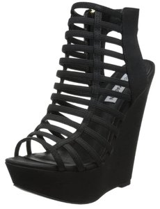 Steve Madden Caged Black Sandals