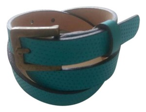 Peter Millar Perforated Turquoise Belt