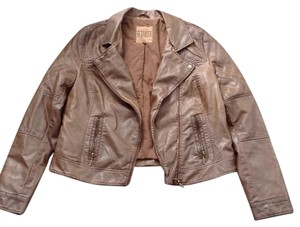 BB Dakota Leather Moto Brown Leather Jacket