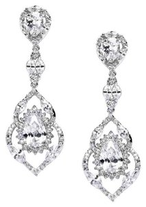 Mariell Best Selling Cubic Zirconia Dangle Wedding Or Prom Earrings 4018e