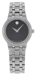 Movado Movado Metio 605985 Stainless Steel Quartz Ladies Watch (13176)