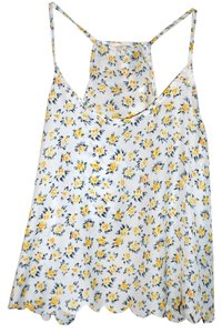 LA Hearts white with yellow flowers Halter Top