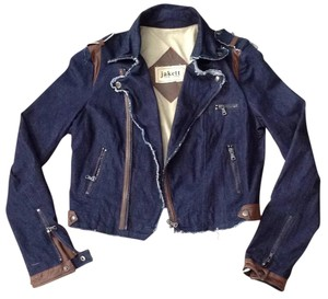 Jakett New York Blue and brown Womens Jean Jacket