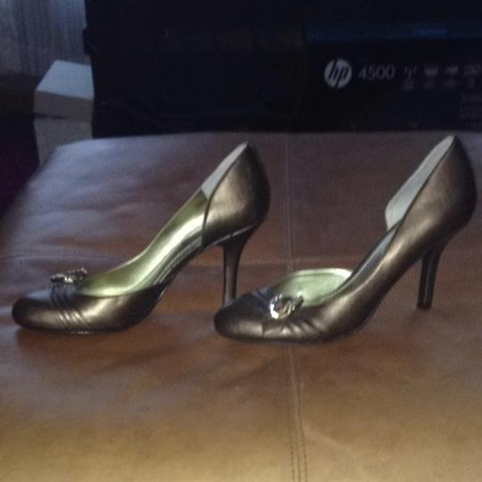 Enzo Angiolini Metallic Bronze Pumps