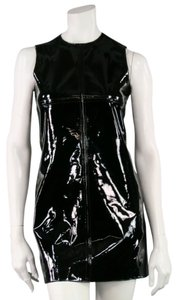 Patent Leather 1960 Mod Mini Dress