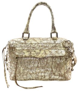 Rebecca Minkoff Satchel in Washed Distressed Silver