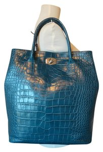 Furla Tote in Teal Greenish Blue