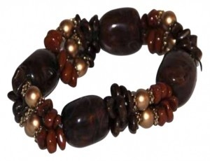 AFRO-FUSION FASHION BRACELET CHOCOLATE AND CARAMEL NUGGETS