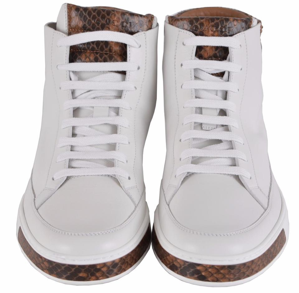 3add6517003 Gucci Men s Sneakers High Tops Men s Sneakers High Tops White Athletic  Image 9. 12345678910