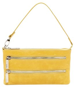 Hobo International Yellow Leather Zipper Wristlet in SOLE (yellow)