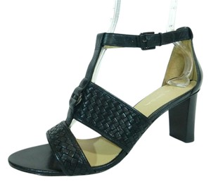 Via Spiga Strappy Leather Black Sandals