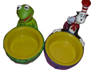 Applause 2 great collectibles Cat in Hat and Kermit Frog both signed stamped Applause authentic home decor kitchen collectible great gift