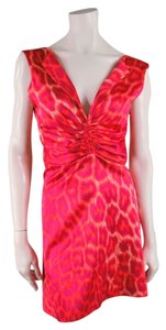 Just Cavalli Leopard Animal Print Cheetah Satin Dress