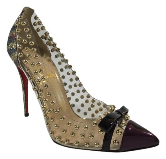 Christian Louboutin Boule Studs Patent Leather Multi colored Pumps