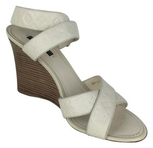 Louis Vuitton ivory Wedges
