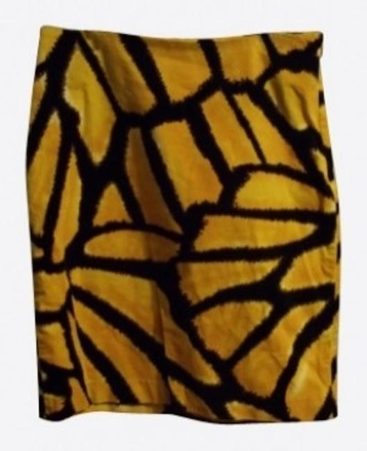 Isaac Mizrahi Skirt Yellow and Black