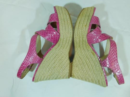 Via Spiga Strappy Leather Pink Sandals
